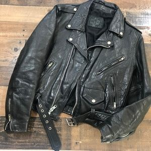 Vintage 80's 90's Leather Motorcycle Jacket